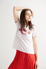 Fifty Outlet Camiseta algodón orgánico Crudo