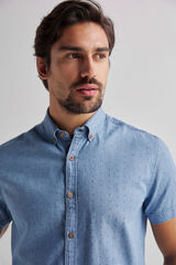 Fifty Outlet Camisa denim print Azul
