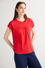 Fifty Outlet Camiseta manga murciélago Rojo