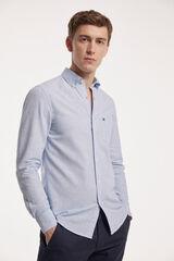 Fifty Outlet Camisa Linho Riscas mix azul