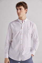 Fifty Outlet Camisa Lino Lisa Blanco