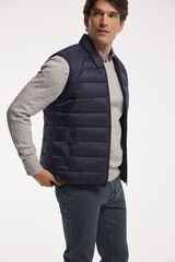 """Fifty Outlet Chaleco cuello """"bomber"""" Azul marino"""