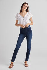 Fifty Outlet Pantalón jegging denim Azul marino