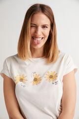 Fifty Outlet Camiseta punto de algodón Blanco