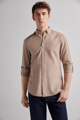 Fifty Outlet Camisa Lino Lisa Marrón