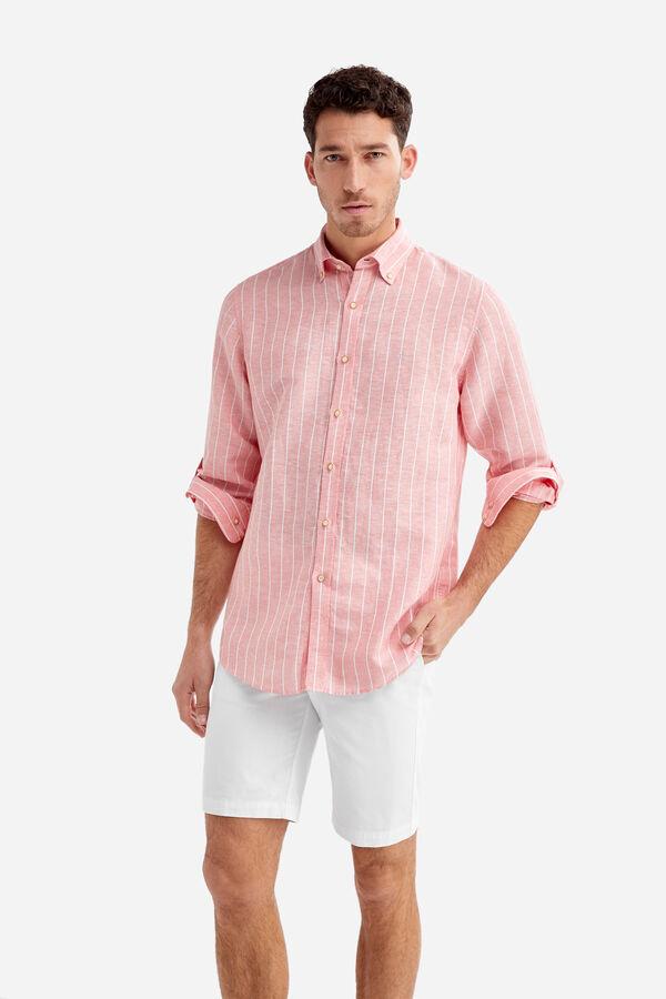 f0cbfb577 Fifty Factory Camisa lino Rojo. Comprar