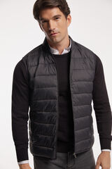 """Fifty Outlet Chaleco cuello """"bomber"""" Gris"""