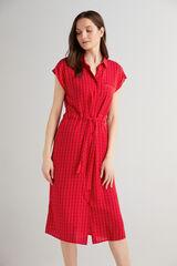 Fifty Outlet Vestido camisero Rojo