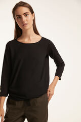 Fifty Outlet BLUSA COMBINADA Negro