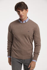 Fifty Outlet Jersey cuello caja Beige