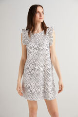 Fifty Outlet Vestido corto estampado Blanco