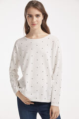 Fifty Outlet JERSEY SOSTENIBLE TOPOS Crudo