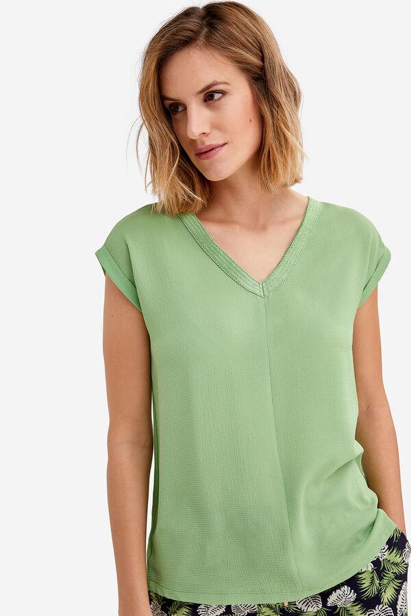 e2e0aab601a Fifty Factory Camiseta pasamanería Verde. Comprar