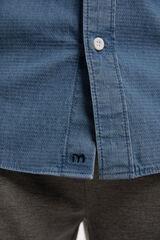Fifty Outlet Camisa Denim Estructura Azul