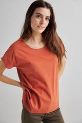 Fifty Outlet Camiseta básica orgánica Rojo