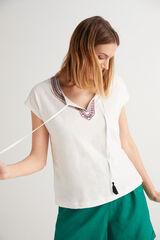 Fifty Outlet Camiseta de algodón Crudo