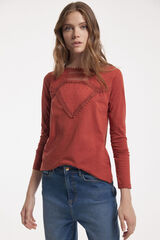 Fifty Outlet T-SHIRT SUSTENTÁVEL PLUMETTI camel