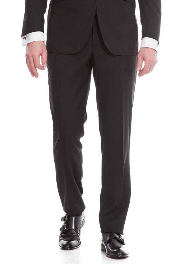 cortefiel. Fifty Factory Pantalón vestir Negro d562d0c00ec