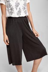 Fifty Outlet Pantalón plisado Negro