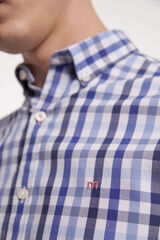Fifty Outlet Camisa desportiva xadrez azulado