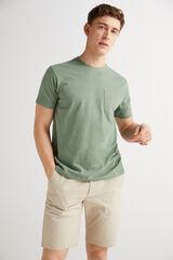 Fifty Outlet Camiseta algodón slub Verde