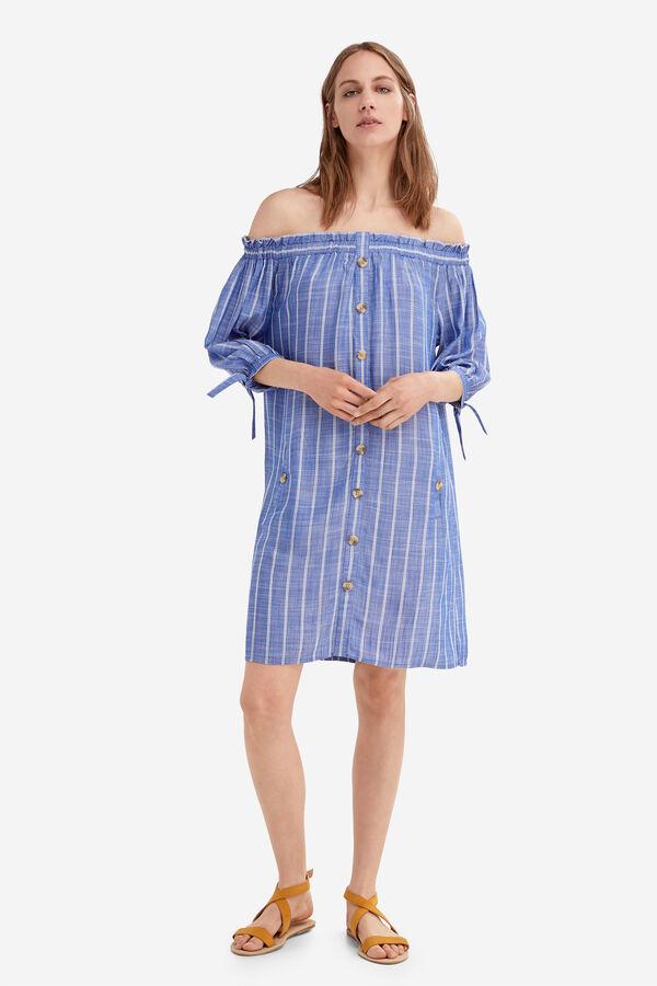 444fca8f6 Fifty Factory Vestido rayas Azul marino
