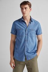 Fifty Outlet Camisa denim estampada rayas Lifeway Azul