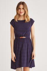 Fifty Outlet Vestido cinturón Azul marino