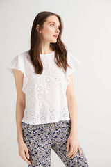 Fifty Outlet Blusa combinada Blanco