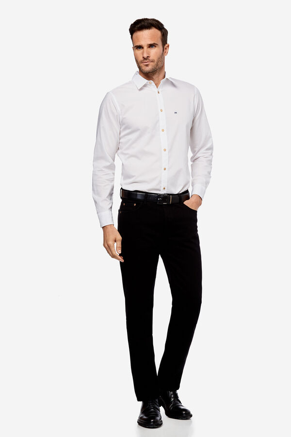 Fifty Factory Camisa slim Blanco 19ff162b1f4