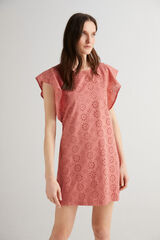 Fifty Outlet Vestido bordado suizo Rosa