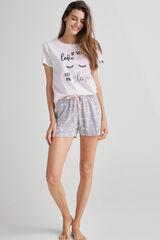 Fifty Outlet Pijama de algodón Blanco