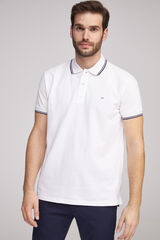 Fifty Outlet Polo piqué Blanco