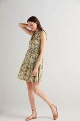 Fifty Outlet Vestido corto camisero Natural