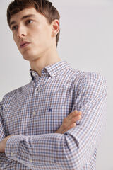 Fifty Outlet Camisa pinpoint cuadros Marron