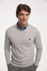 Fifty Outlet Jersey cuello pico Gris