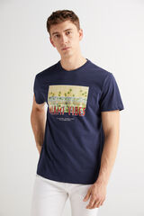 Fifty Outlet Camiseta cuello redondo Azul marino