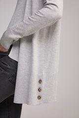 Fifty Outlet Cardigan básico botones Gris