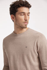 Fifty Outlet Jersey con logo a contraste Beige