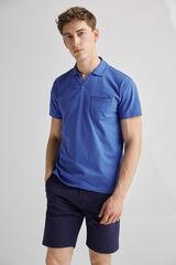 Fifty Outlet Polo cuello V Azul