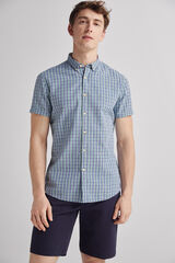 Fifty Outlet Camisa lino cuadros Verde