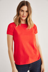 Fifty Outlet T-shirt básica vermelho real