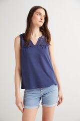 Fifty Outlet Camiseta algodón Azul marino