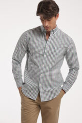 Fifty Outlet Camisa Popelín Cuadros Verde