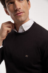 Fifty Outlet Jersey cuello caja Negro
