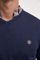 Fifty Outlet Jersey cuello pico Azul