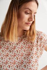 Fifty Outlet Camiseta poliéster Crudo