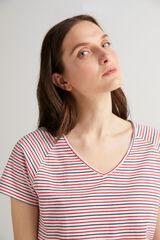 Fifty Outlet Camiseta escote pico Blanco