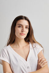Fifty Outlet Camiseta orgánica Crudo