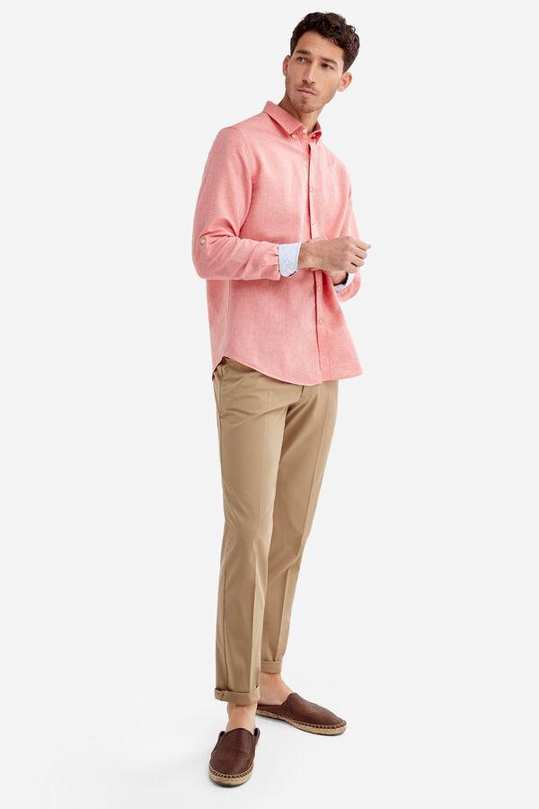 519c0b808 Fifty Factory Camisa lino Rojo